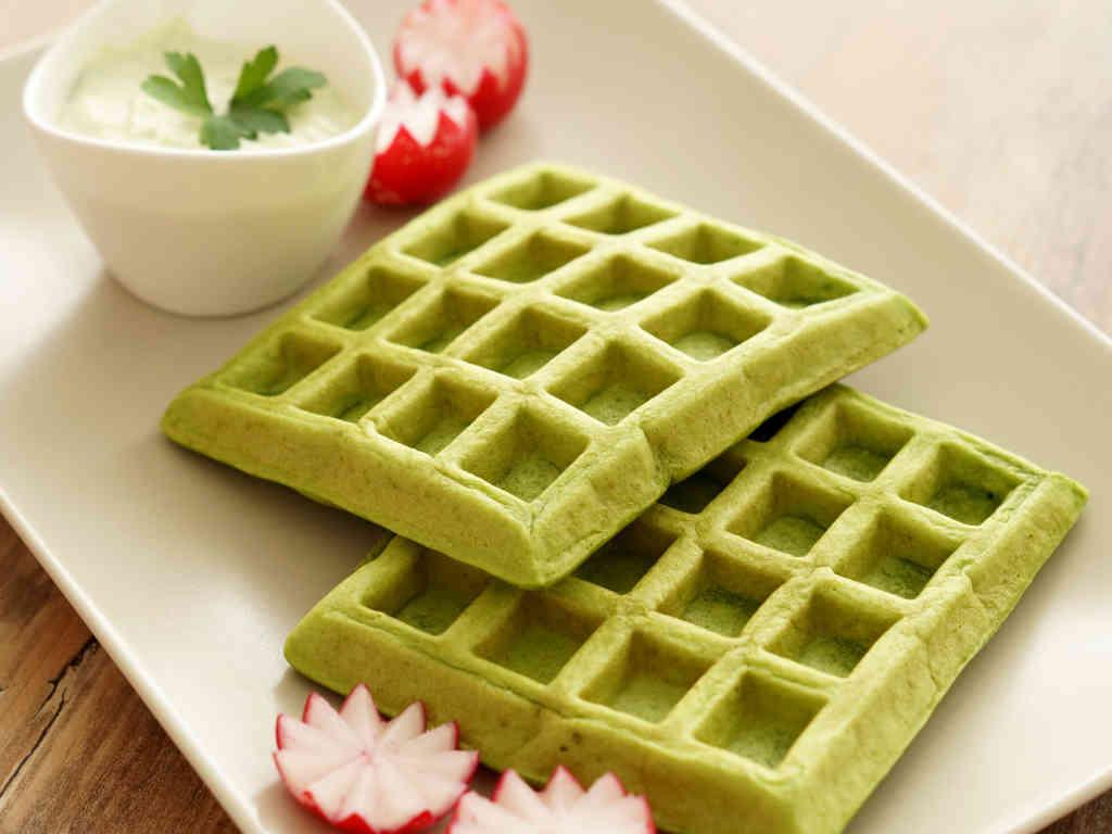 Slane zelene vafle
